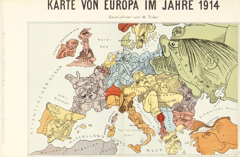 Karte Von Europa 1914.Barron Maps Satirical And Propaganda Maps