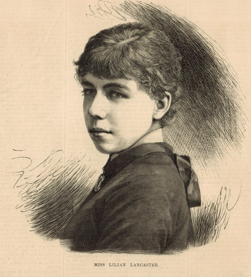 Miss Lilian Lancaster in 1881 (author's collection)