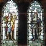 Memorial window in Creich Parish church commemorating Hugh Walrond Rose & Laucelot St.Vincent Rose