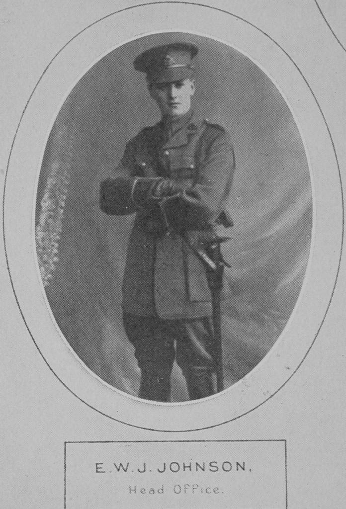 2nd Lt E W J Johnson - C Co 7th Beds - died June 1916