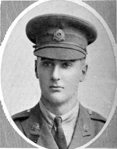 2nd Lt Gordon Beverly Hasler - died in June 1916 when Clegg wounded