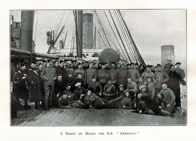 A Group of 7th DG on board the SS Armenian - 8 Feb 1900