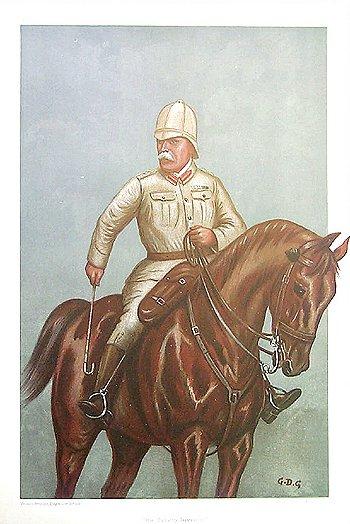 General Sir John French - Cavalry Division - Vanity Fair cartoon - July 1900