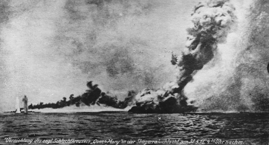 German view of sinking of HMS Queen Mary - May 31 1916