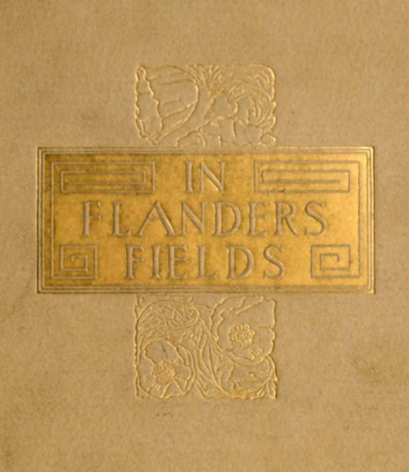 In Flanders Field [1921] - embossed & gilded front cover