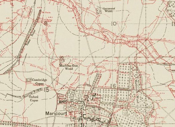 Maricourt Wood & Piccadilly Circus - Carnoy sector - July 1916