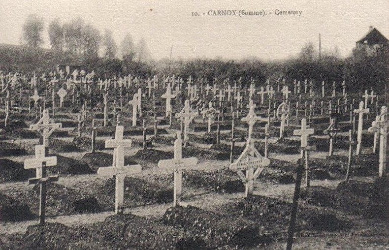 Postcard of Carnoy 03 - Somme - 1914-18 - Cemetery