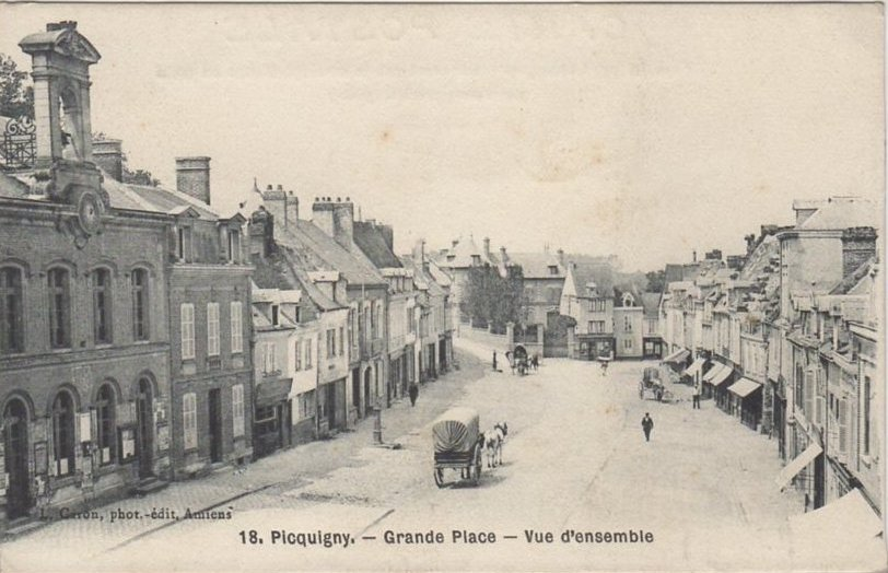 Postcard of Picquigny 02 - Somme - Town Hall & Grande Place c1910