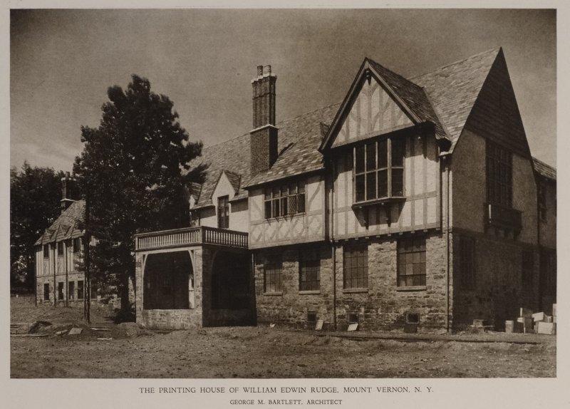 Printing House of William E Rudge, Mount Vernon, New York 1926