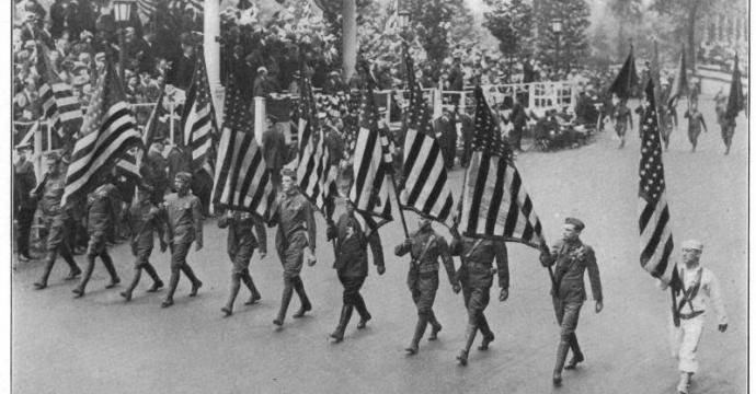 Veterans March on Memorial Day 1923 (Courtesy of American Legion)
