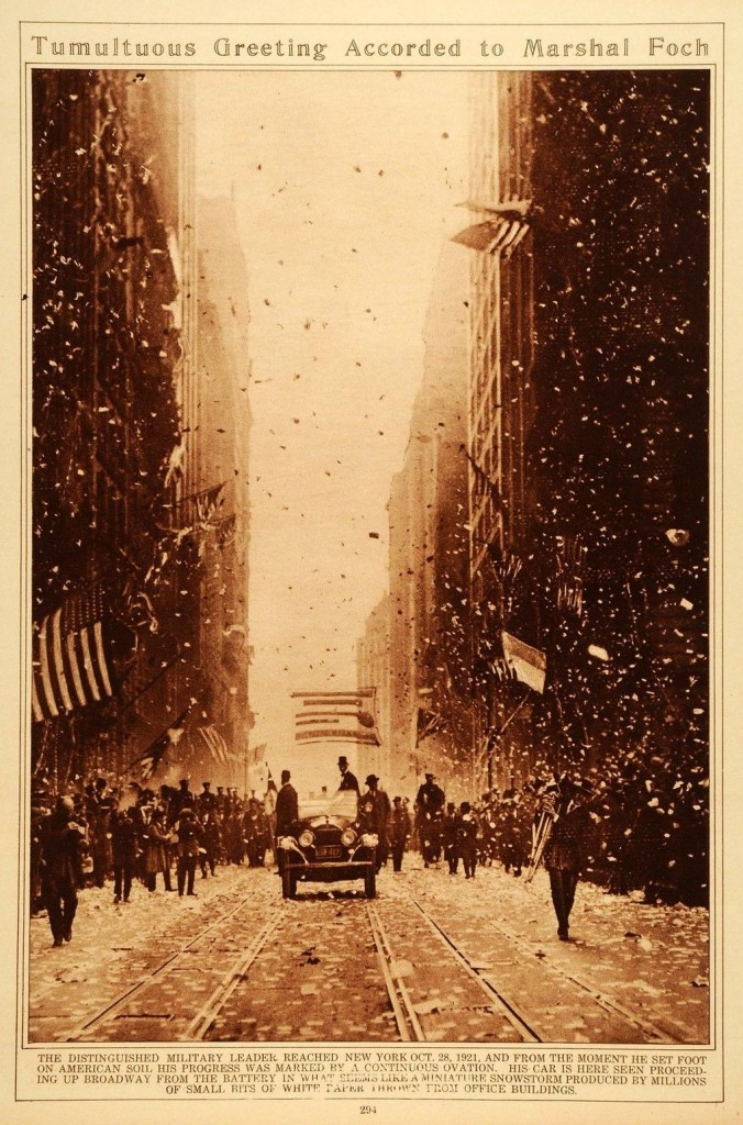 Visit of Marshal Foch to New York - 28-10-1921
