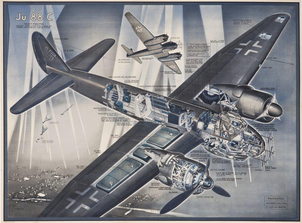Kerry Lee -A.I.2.(G) - Drawing of Ju 88 C - AD1392 - 03-44jpg