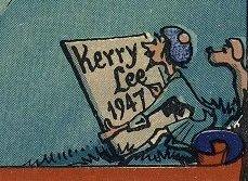 Keery Lee & dog Jim - 1947 Edinburgh poster
